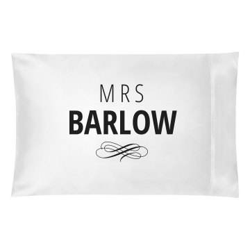 Just Married Matching Mrs. Barlow