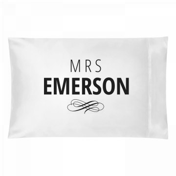 Just Married Matching Mrs. Emerson