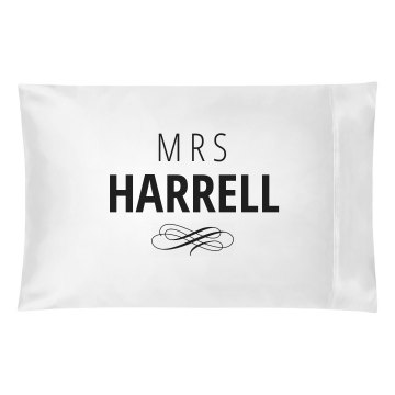 Just Married Matching Mrs. Harrell