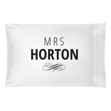 Just Married Matching Mrs. Horton