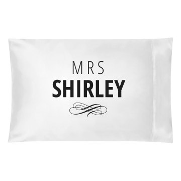 Just Married Matching Mrs. Shirley