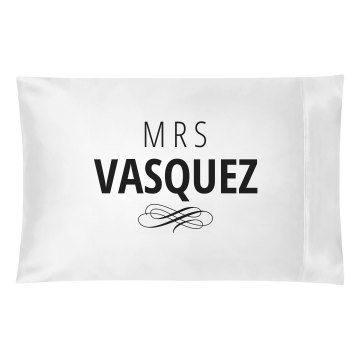 Just Married Matching Mrs. Vasquez
