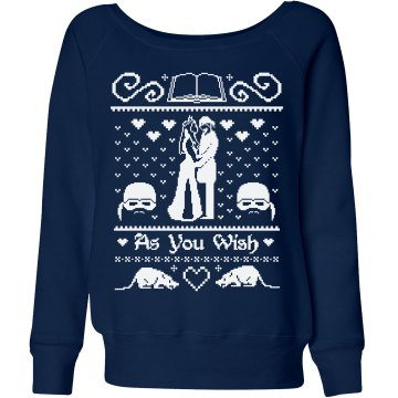 Just Married Sweater Blue