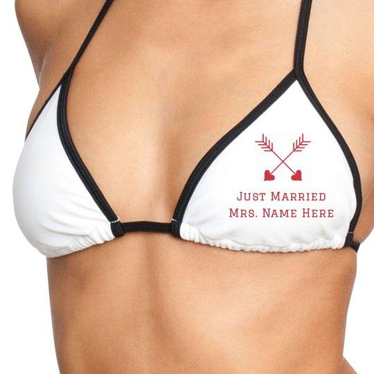 Just Married Swim Top