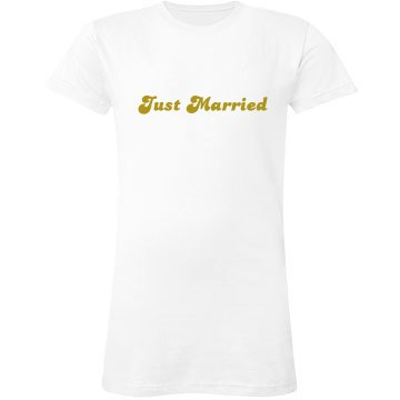 Just Married White Tee