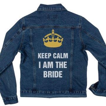 Keep Calm Bride Denim Jacket