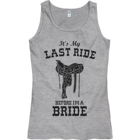 Last ride before I'm a Bride