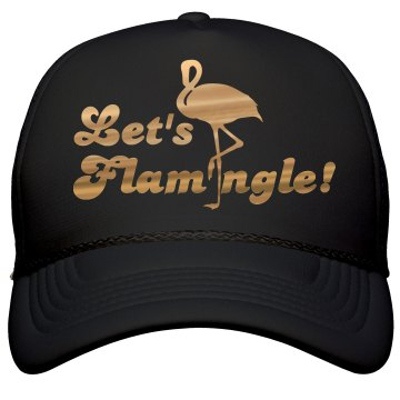Let's Flamingle All Gold Hat