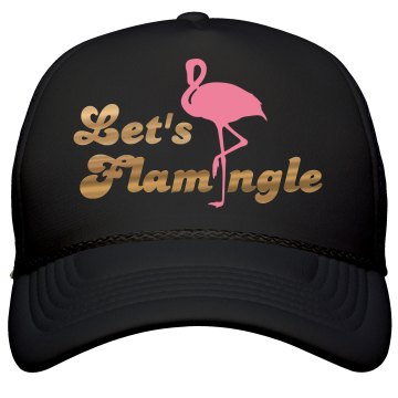 Let's Flamingle Gold & Pink Hat