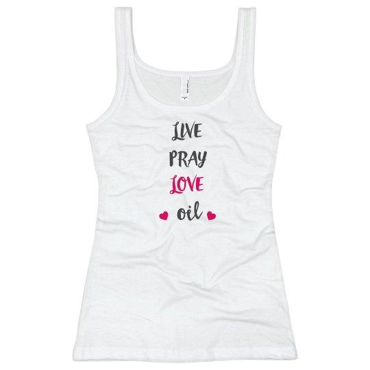 Live pray love oil