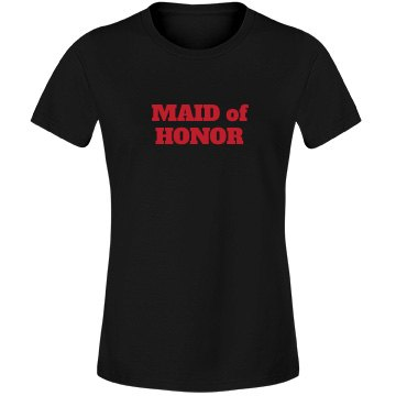 Maid of Honor - Red Black
