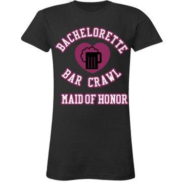 Maid Of Honor Bar Crawl