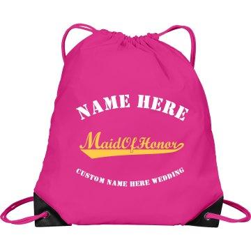 MAID OF HONOR DRAWSTRING BAG