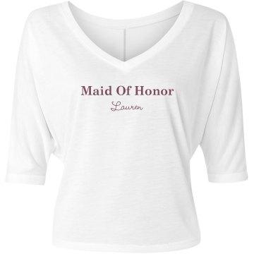 Maid Of Honor Fashion Tee