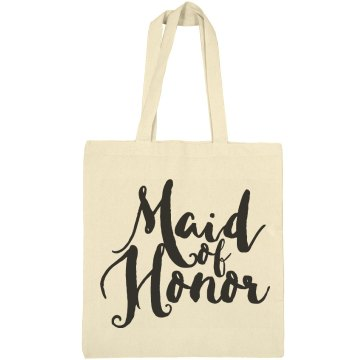 Maid Of Honor Gift Brush Script