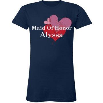 Maid Of Honor Heart Tee