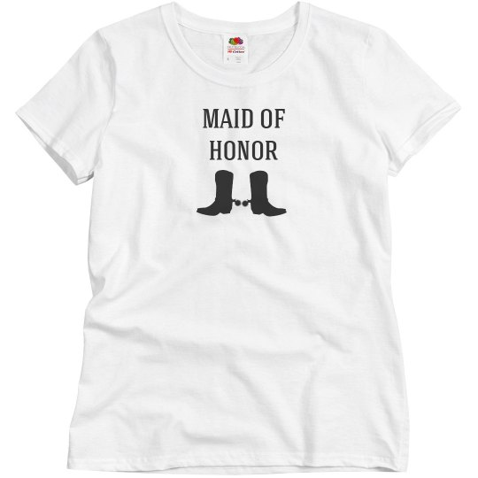 Maid of Honor Tank Country Wedding