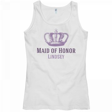 Maid of Honor With Crown