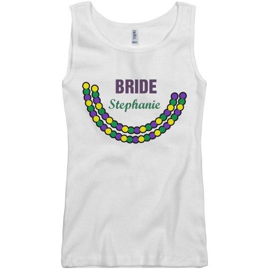 Mardi Gras Bride Tank Top