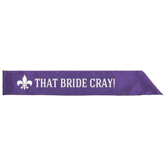 Mardi Gras Cray Bride