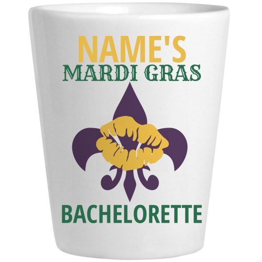 Mardi Gras Shot Glass