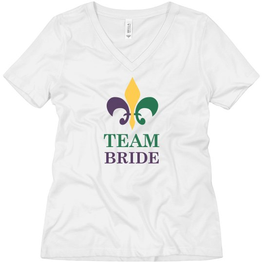 Mardi Gras Team Bride