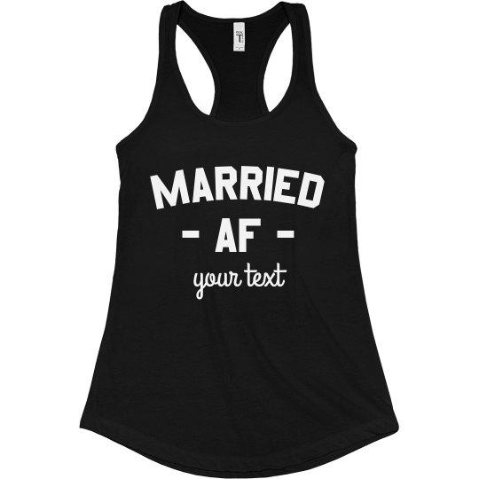 Married AF Funny Tank