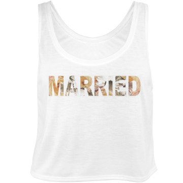 Married Floral Text