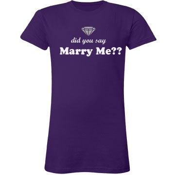 Marry Me Tee