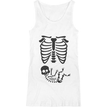 Maternity Skeleton Halloween shirt