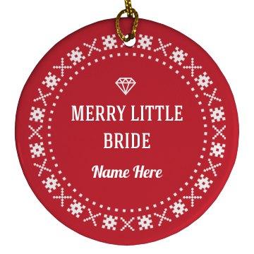 Merry Little Bride Snowflake