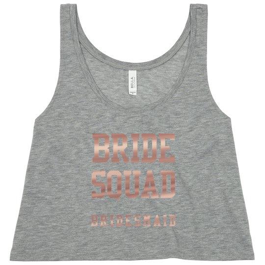 Metallic Bride Squad Bridesmaid