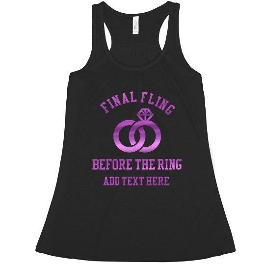 Metallic Final Fling Ring