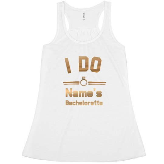 Metallic I Do Crew Tank