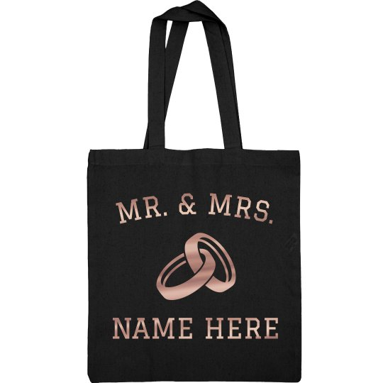 Metallic Just Married Design