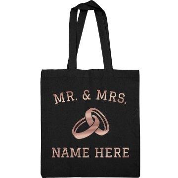 Metallic Just Married Design