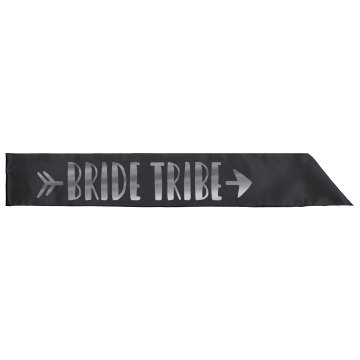 Metallic Silver Bride Tribe Sash