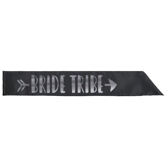 Metallic Silver Bride Tribe Sash