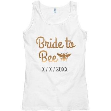 Metallic The Bride To Bee