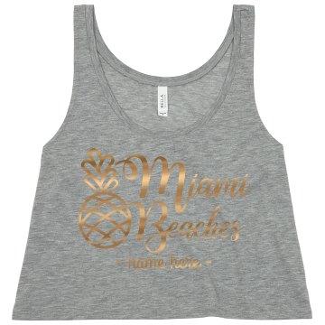 Miami Beaches Gold Metallic Bachelorette