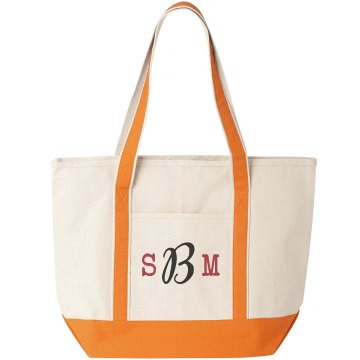 Monogram Bridesmaid Tote