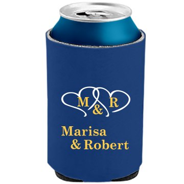 Monogram Can Koozies