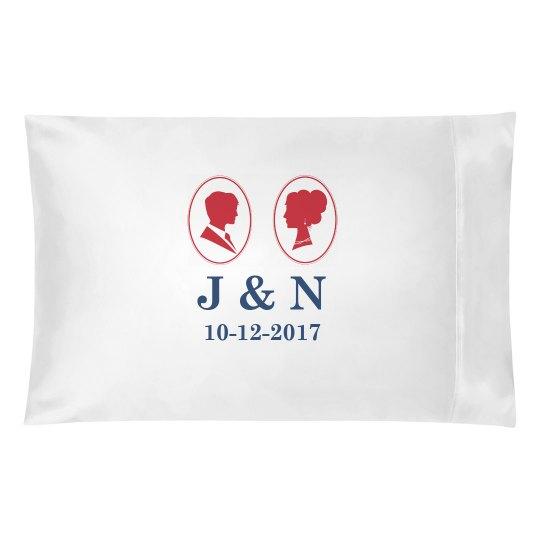 Monogram Wedding Pillow