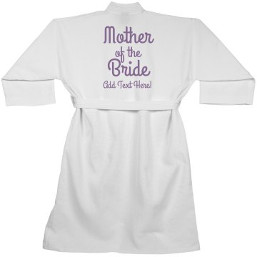 Mother of the Bride Custom Spa Robe