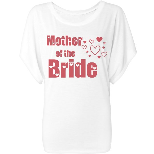 Mother of the Bride Hearts Woman's T-Shirt