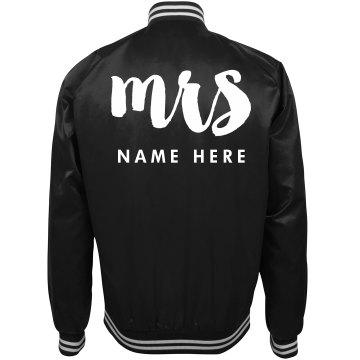 Mrs. Custom Last Name Trendy Wife
