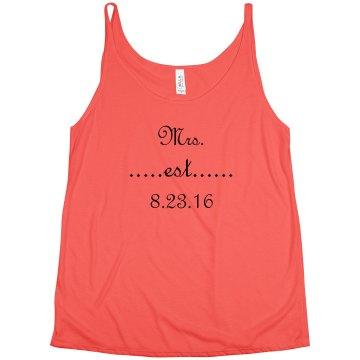 Mrs. Established After Wedding Tank Top
