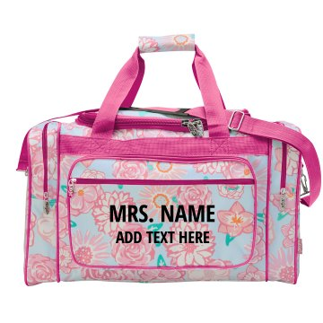 Mrs. Floral Travel Bag