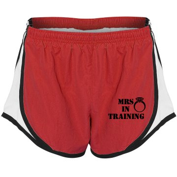 Mrs. in Training Running Shorts