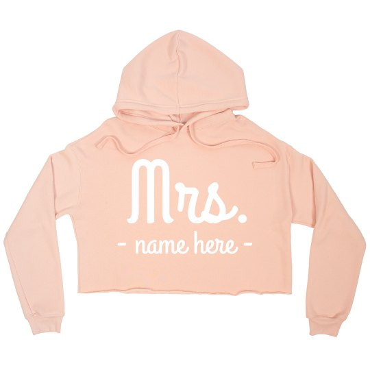 Mrs. Newlywed Custom Crop Sweatshirt
